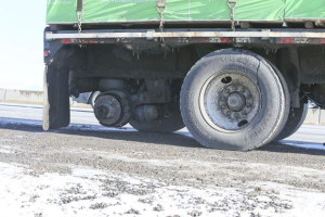 missing truck tire